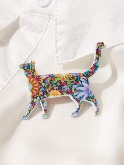 1pc Cat Shaped Brooch