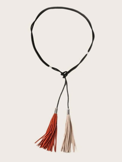 Double Tassel Decor Rope Belt