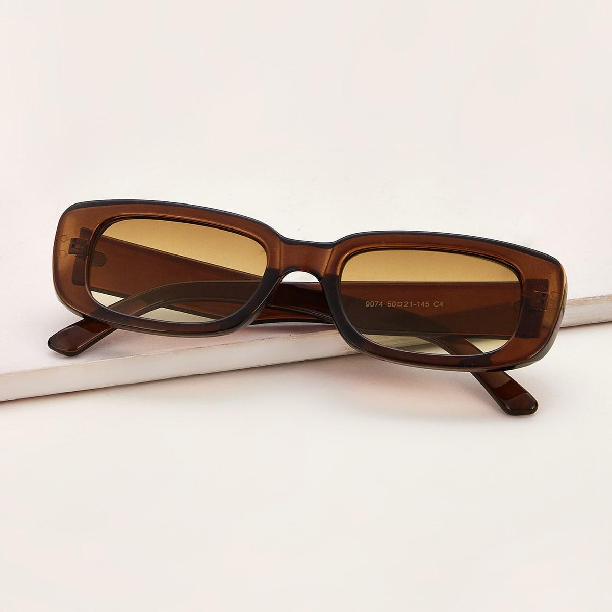 Прямоугольные солнечные очки с акриловой рамкой