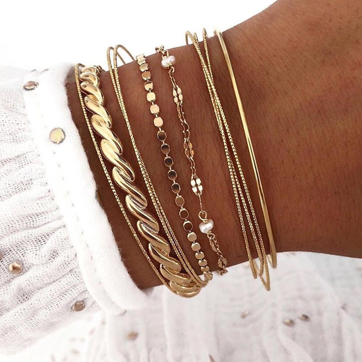 11pcs Kunstperlen Decor Armband