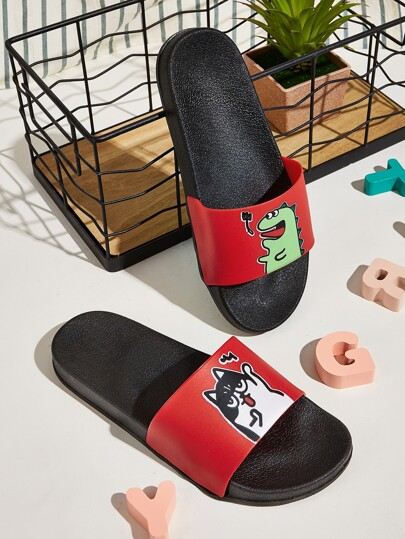 Cartoon Graphic Wide Fit Sliders