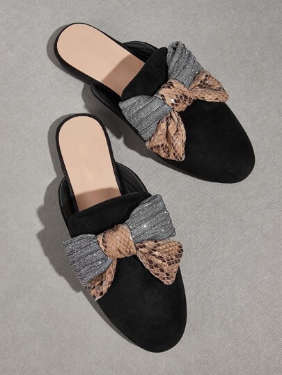 Bow Decor Flat Mules
