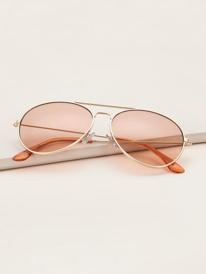 Metal Frame Top Bar Sunglasses