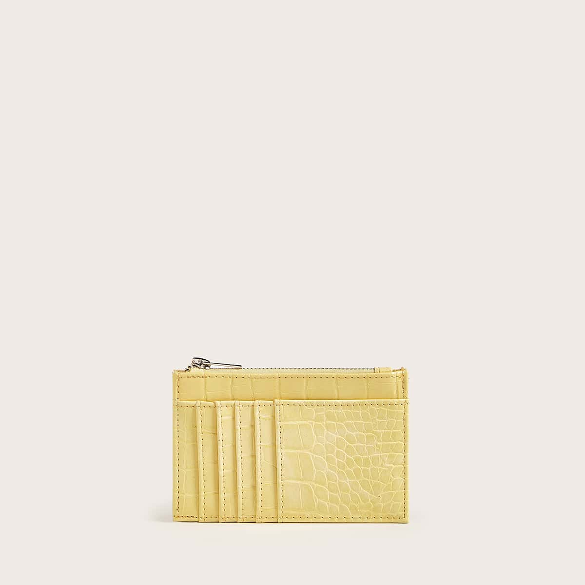 Snakeskin Embossed Purse With Card Holder