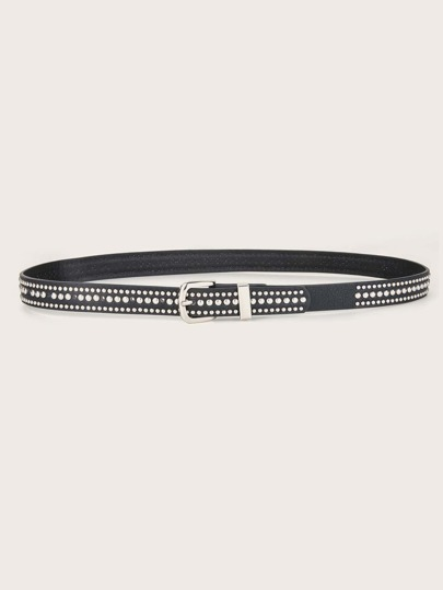 Studded Decor Buckle Belt