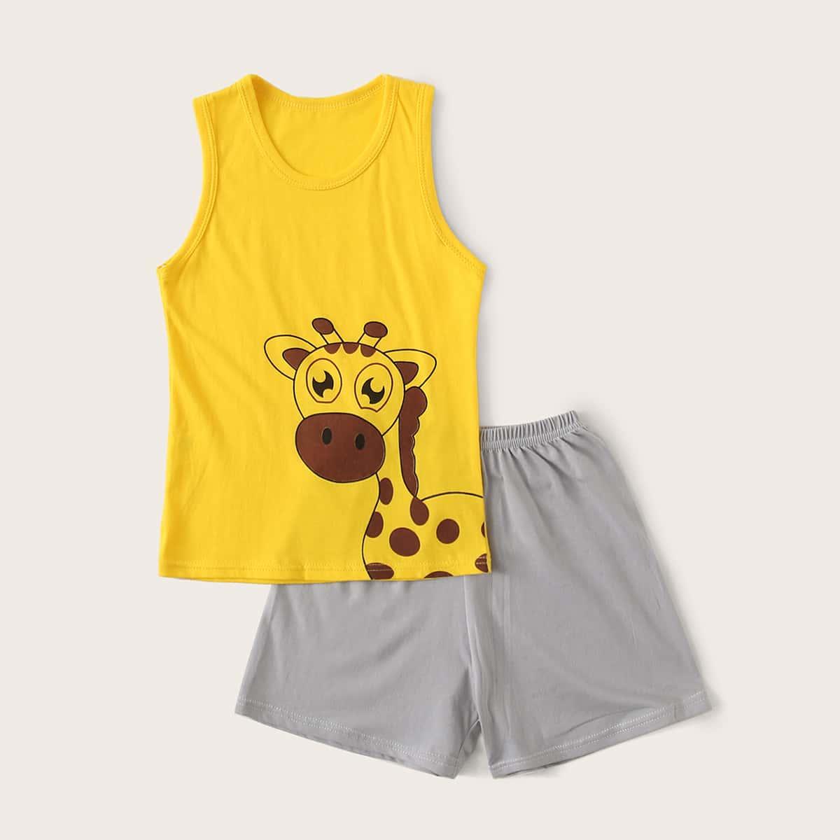 Пижама с мультяшным принтом для мальчиков