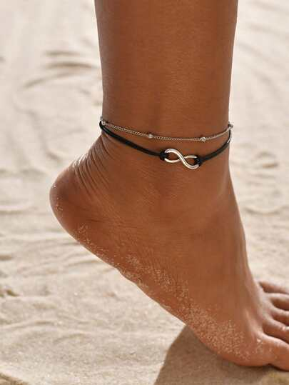 1pc Infinity Beaded Layered Anklet