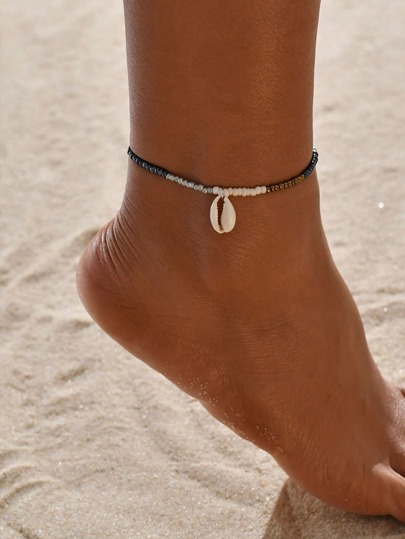 1pc Shell Charm Beaded Anklet