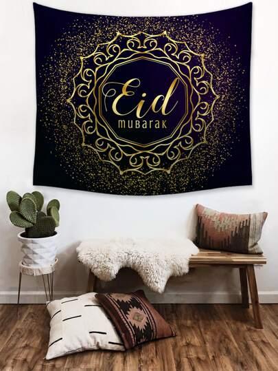 1pc Letter Print Tapestry