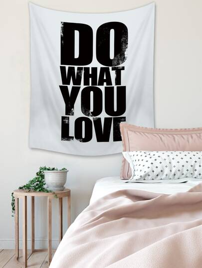 1pc Slogan Graphic Tapestry