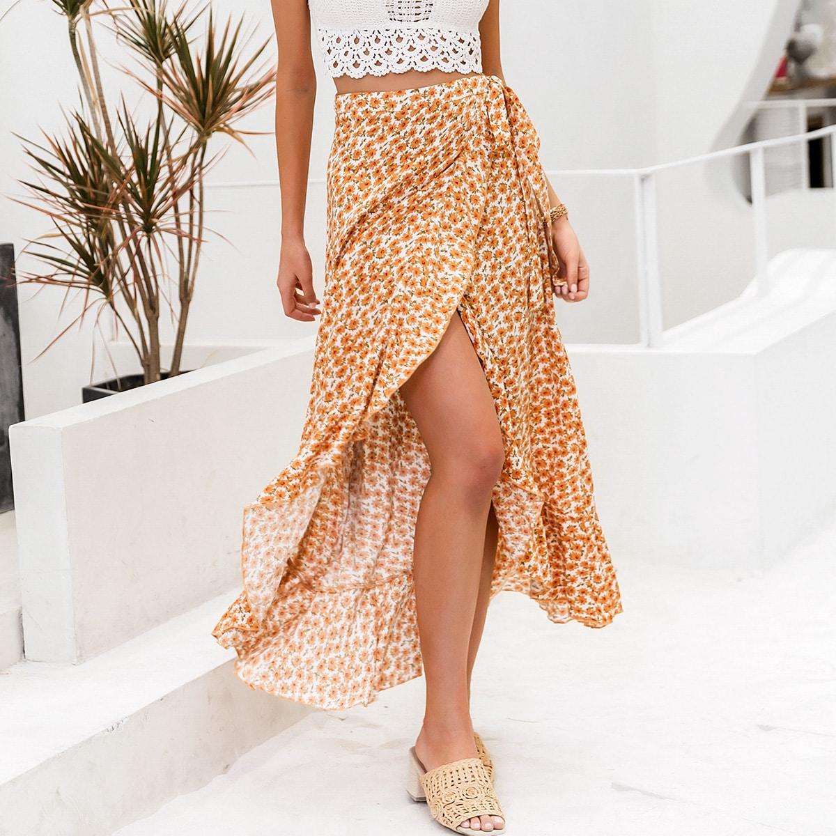 Цветочная юбка на запах