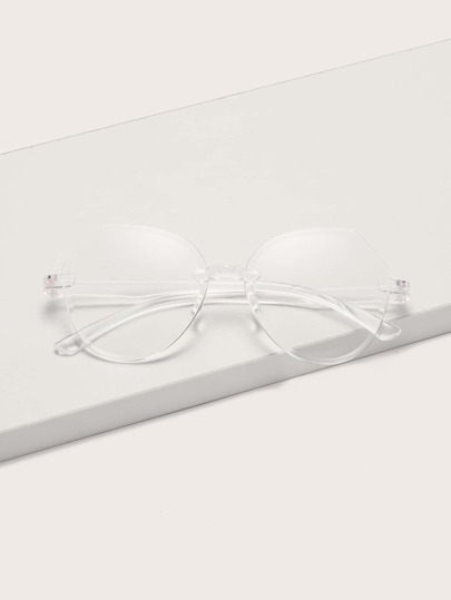 Clear Frame Rimless Protective Glasses With Case