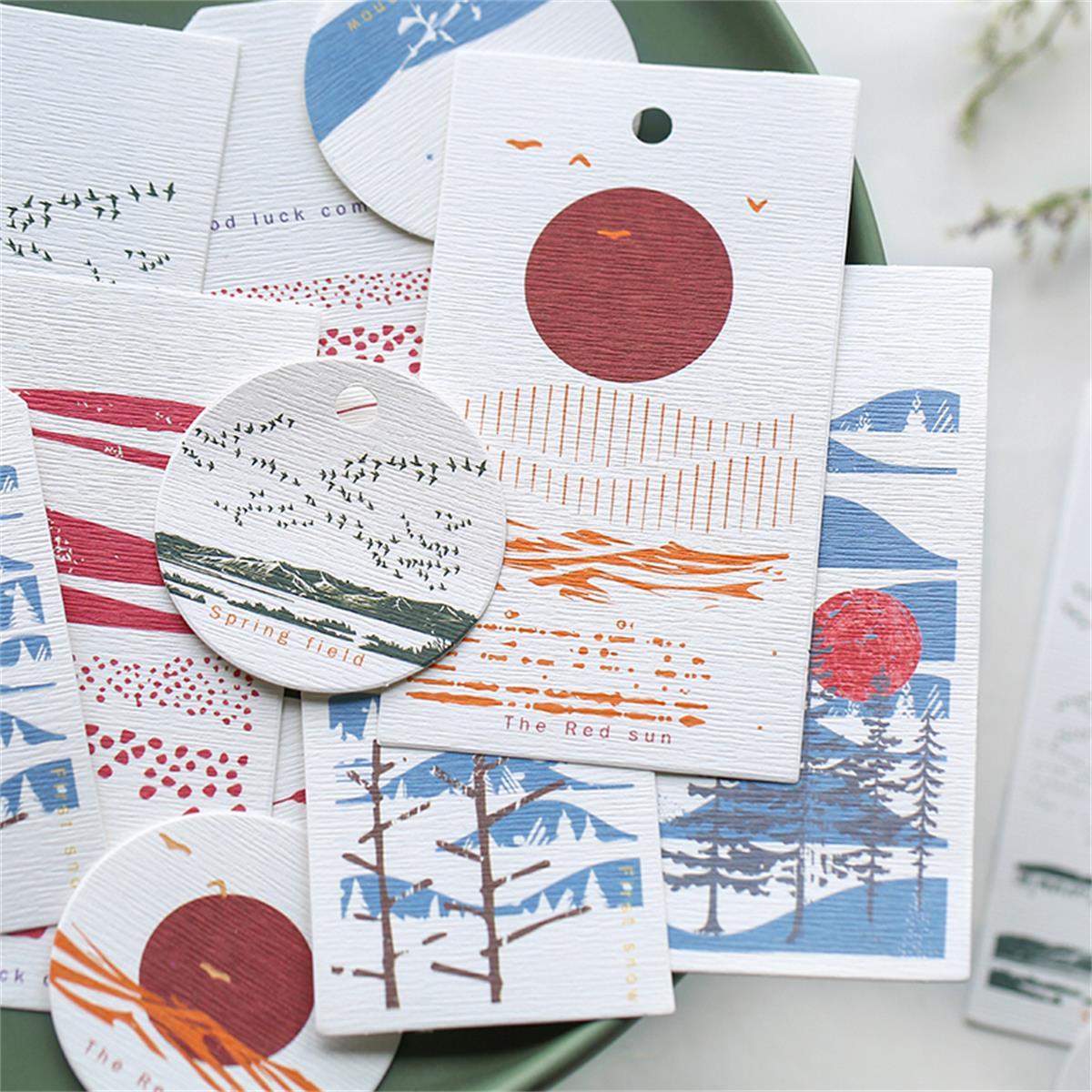 9pcs Mixed Pattern Cardstock Paper