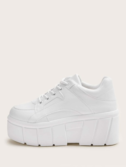 Lace-up Front Platform Chunky Sneakers