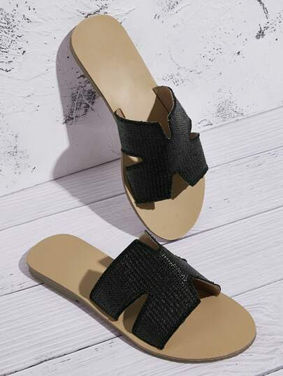 Open Toe Cut-out Sliders