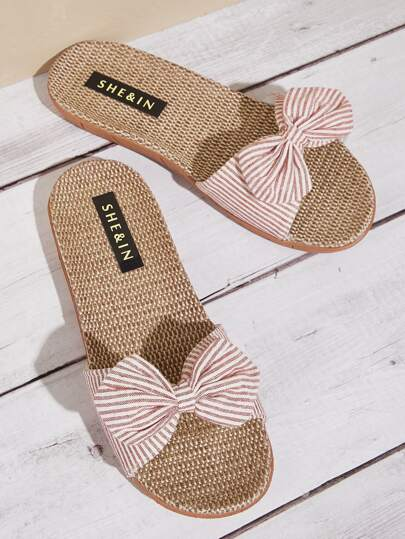 Striped Bow Decor Sliders