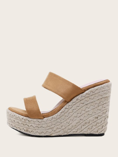 Double Strap Espadrille Wedges