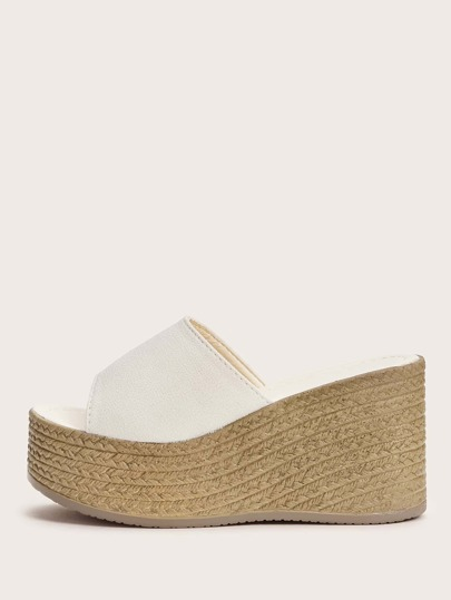 Open Toe Wedge Mules