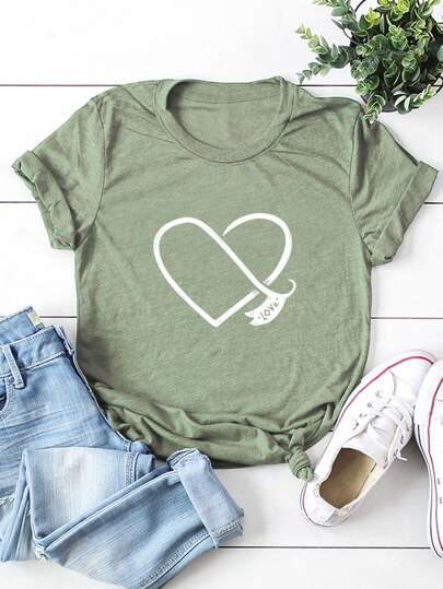 Plus Heart & Letter Graphic Tee