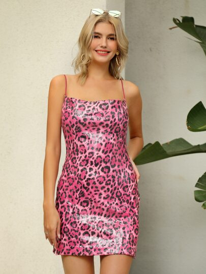 D&M Leopard Sequin Cami Dress