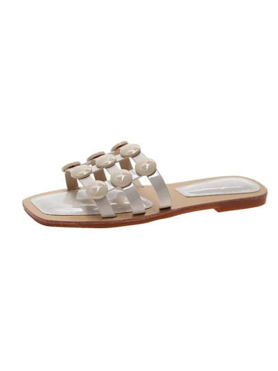 Open Toe Caged Sliders