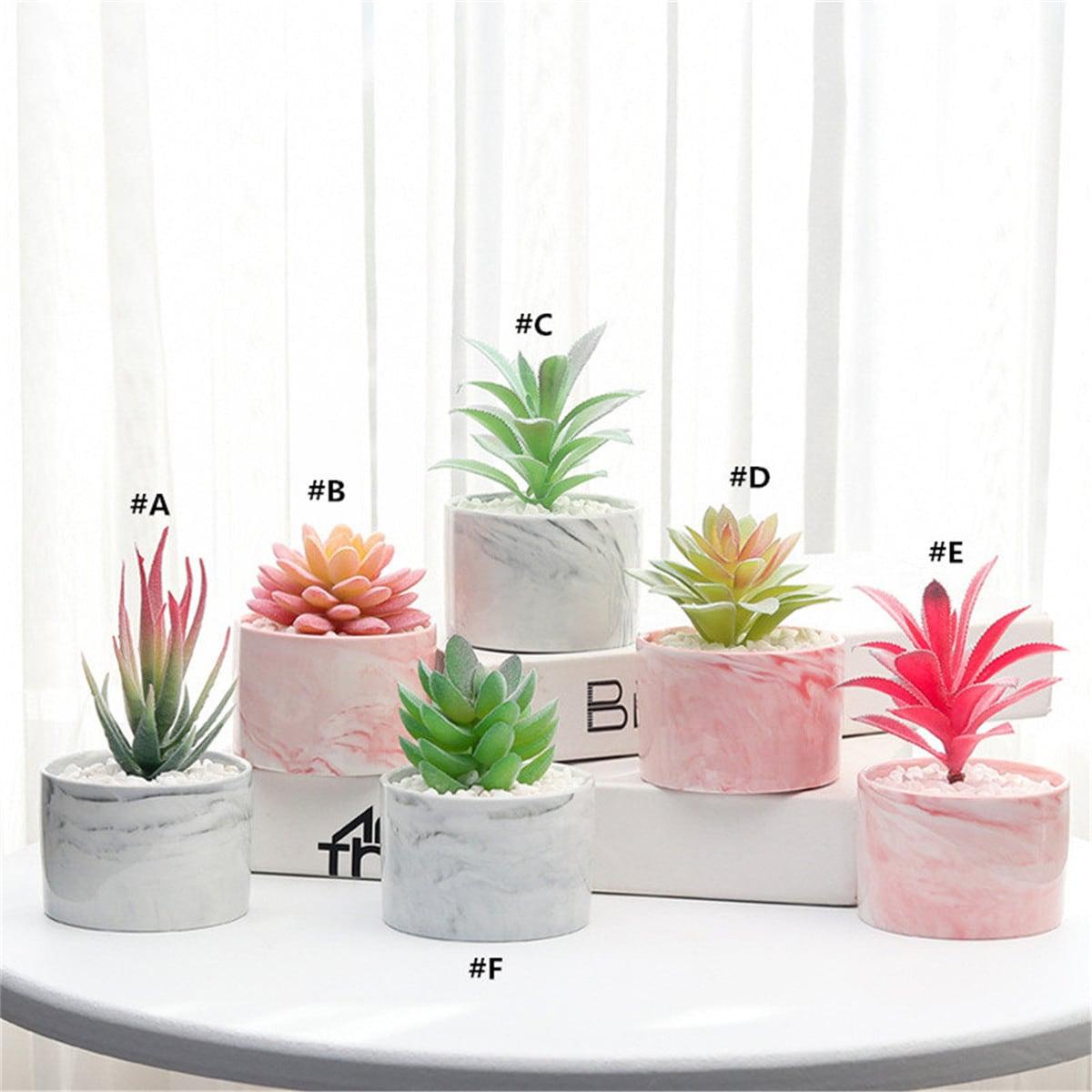 1 Stück Künstliche Sukkulenten Pflanze mit Keramiktopf