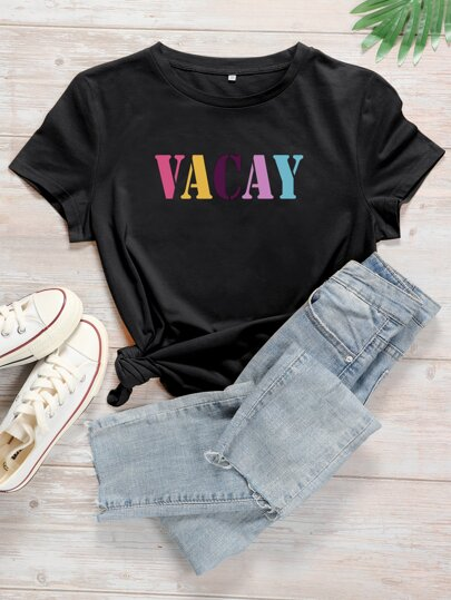 Plus Colorful Letter Graphic Tee