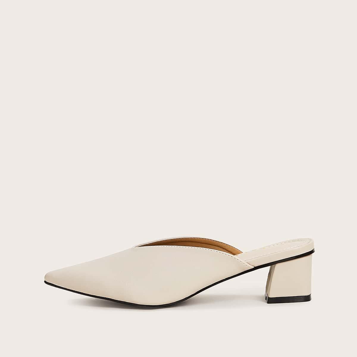 Модные Туфли Мюли С Острым Мыском На Небольшом Каблуке от SHEIN