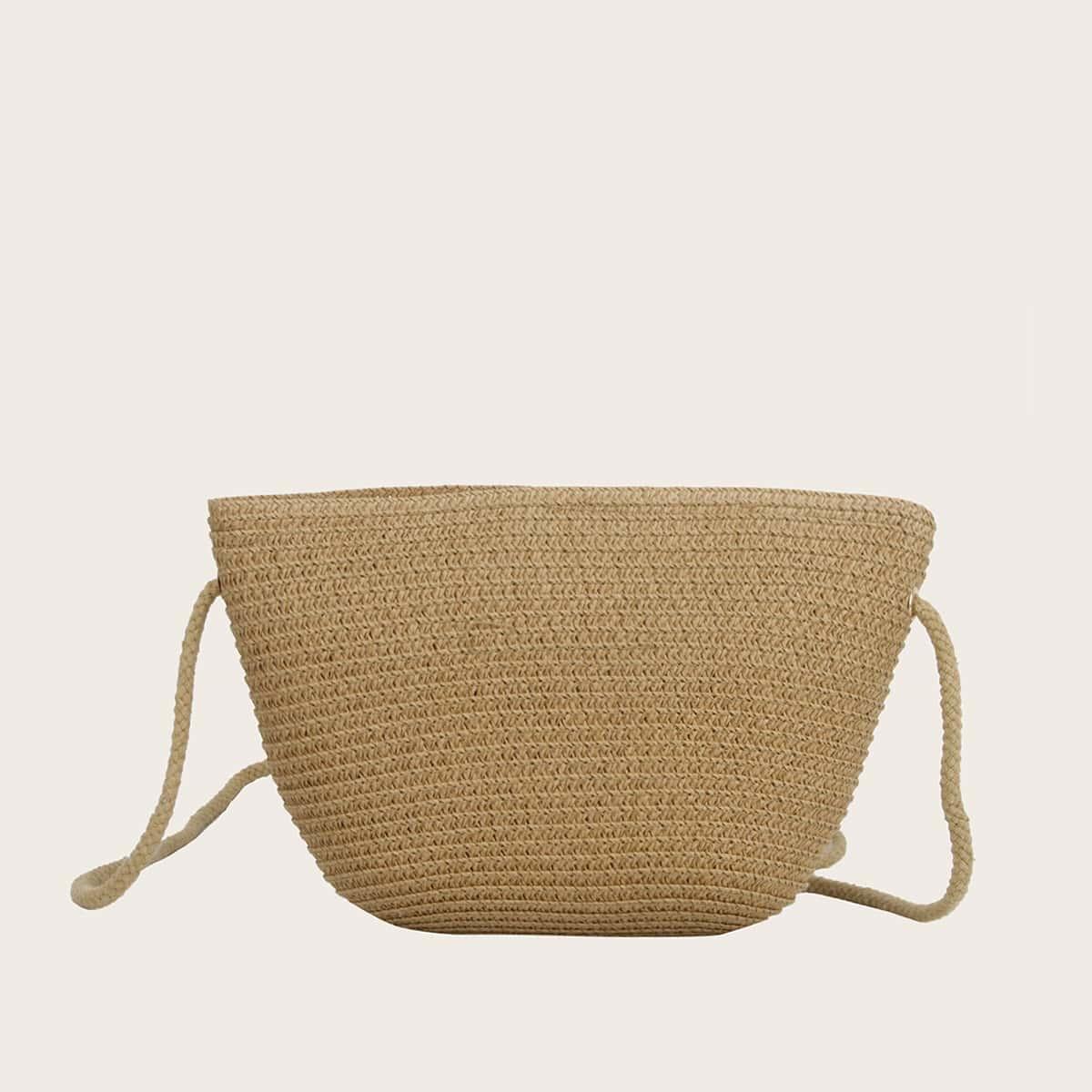 Плетеная сумка через плечо