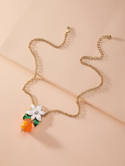 1pc Flower Charm Necklace