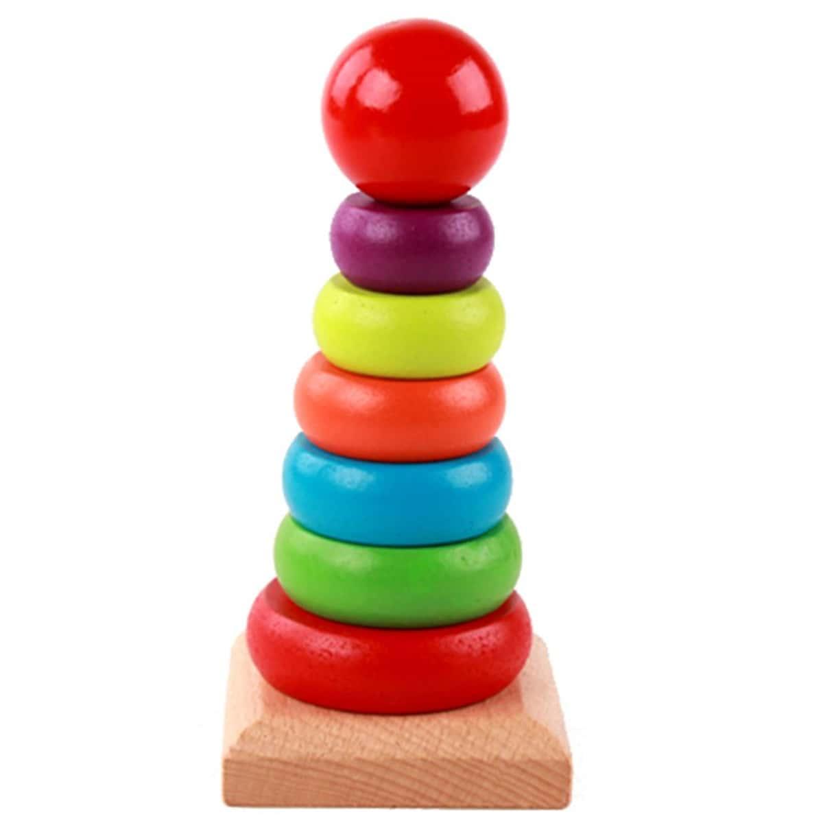 Детская деревянная игрушка башни 1 набор