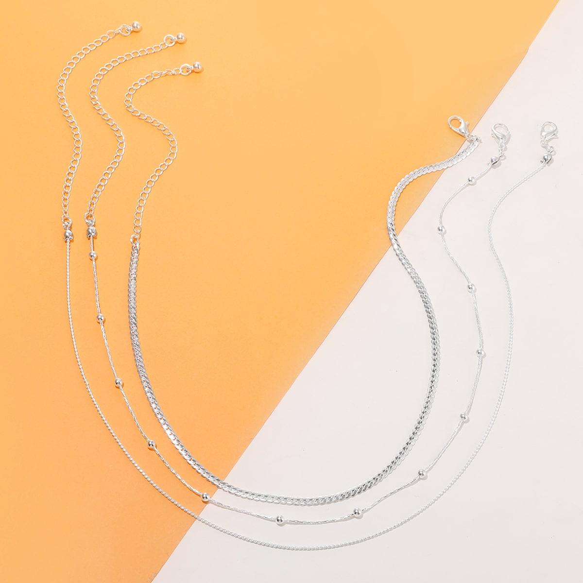 Ожерелье с бусами 3шт