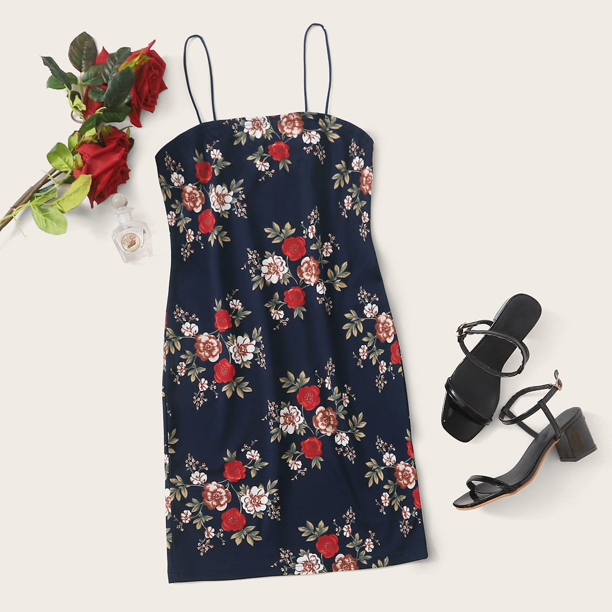 Floral Print Dress, SHEIN  - buy with discount