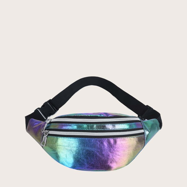 Girls Holographic Fanny Pack, Multicolor