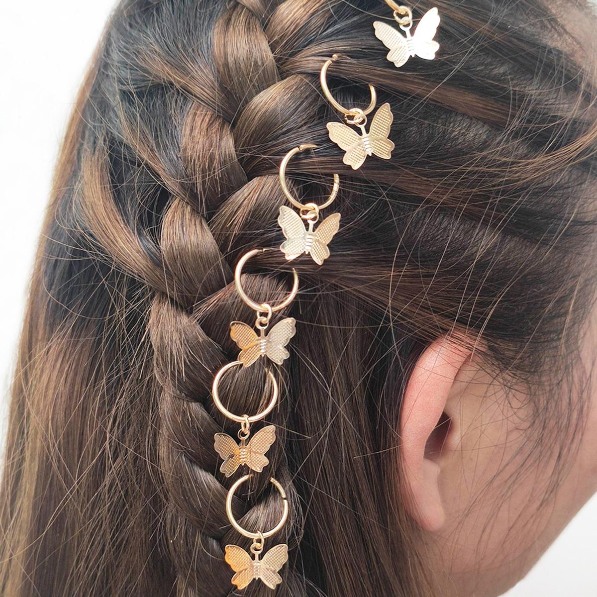 Зажим для волос бабочки 6шт