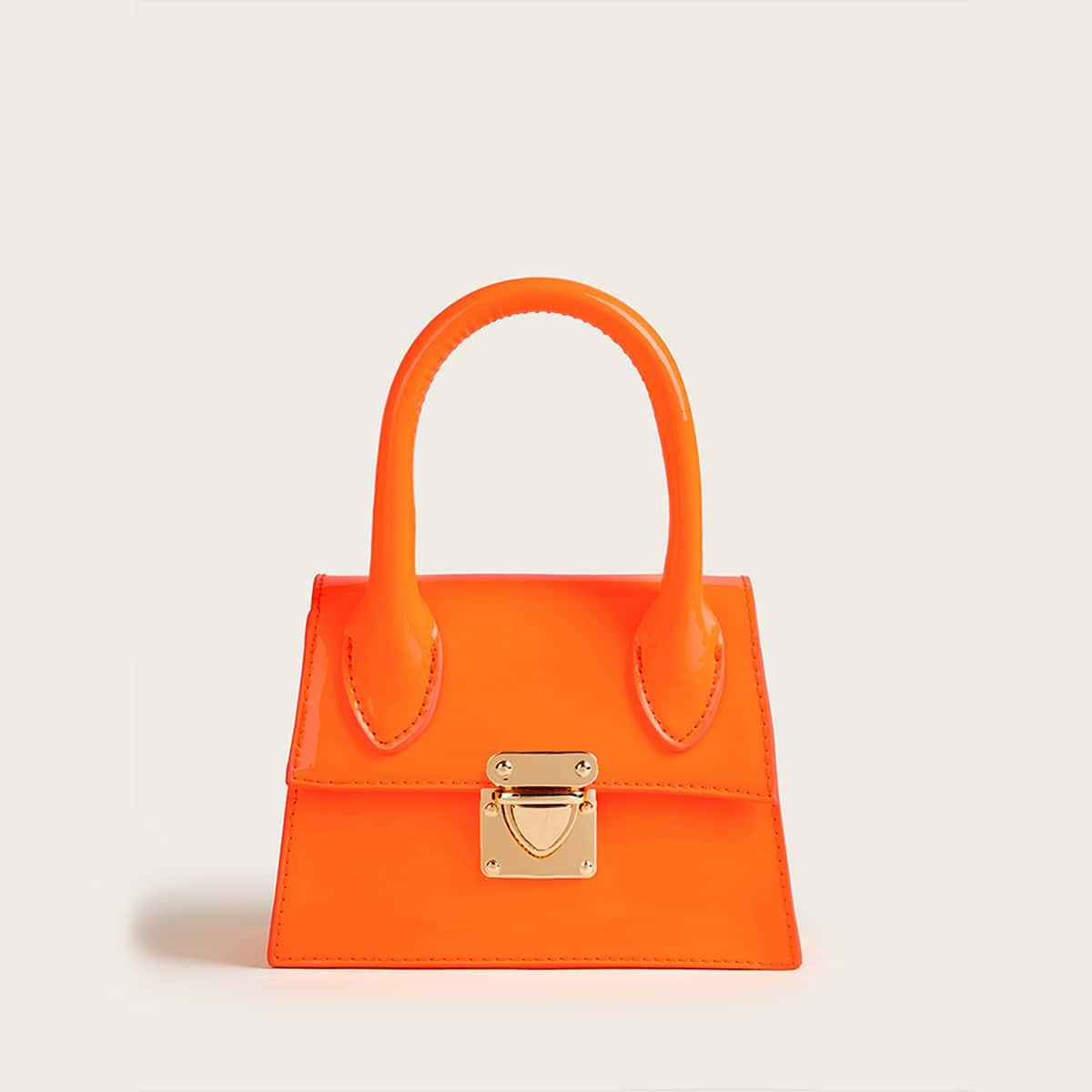 Неоновая оранжевая сумка-сэтчел