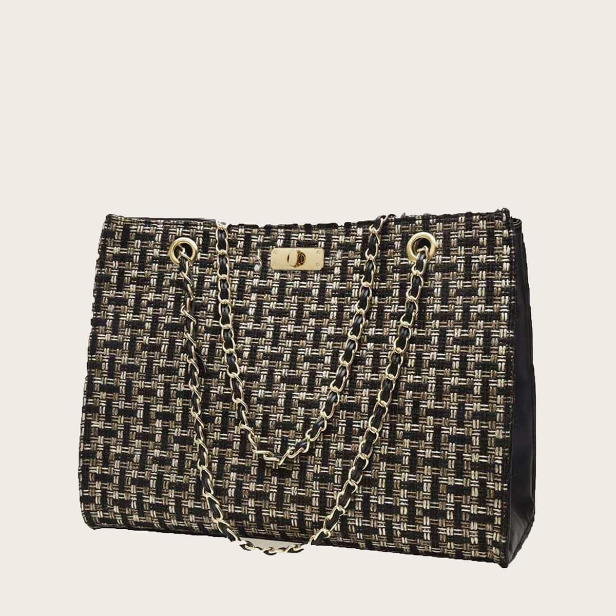 Плетеная сумка-тоут случайного