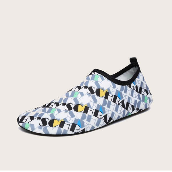 Toddler Boys Letter Graphic Water Shoes, Multicolor