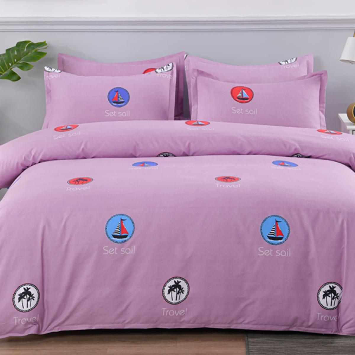 Комплект постельного белья с принтом без наполнителя