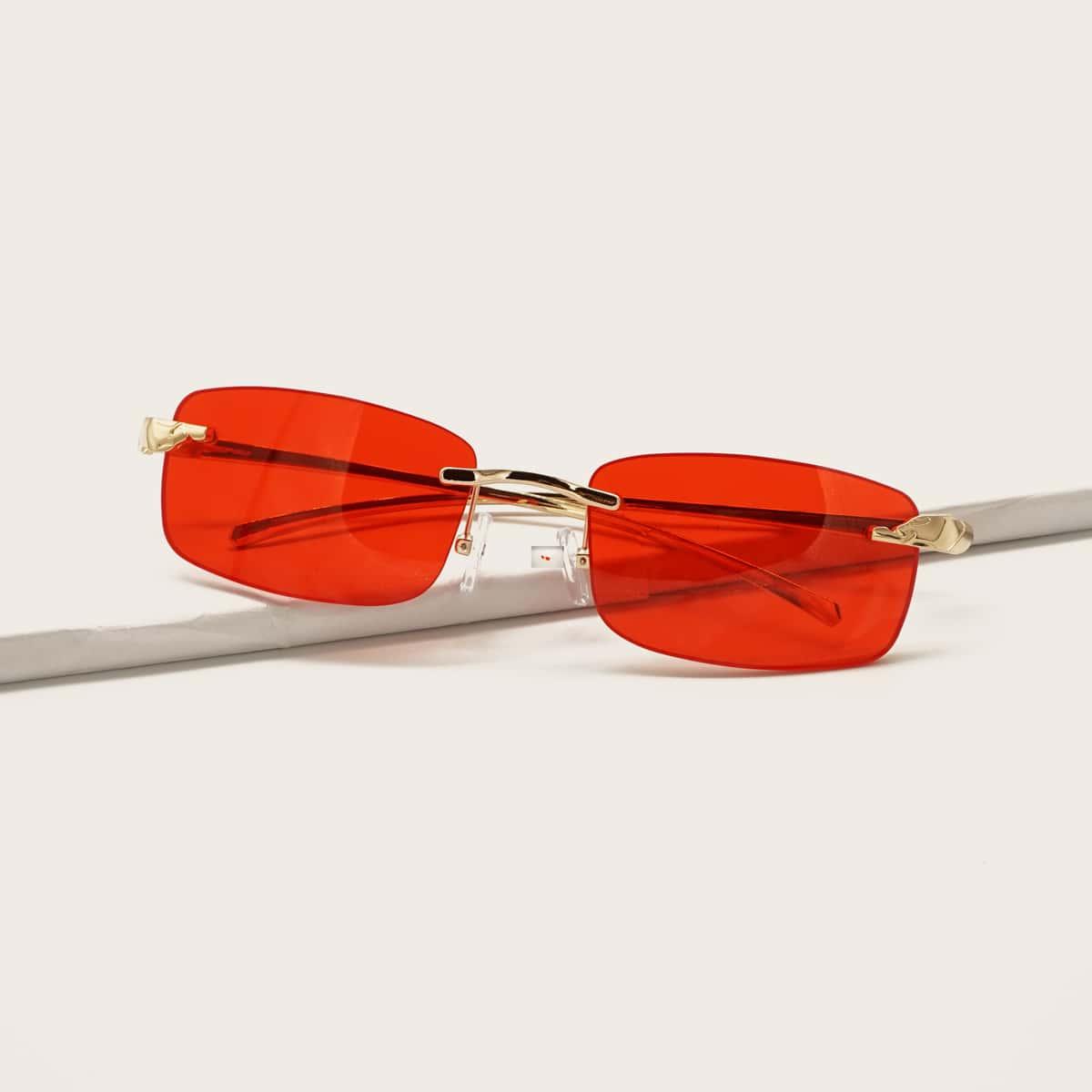 Прямоугольные солнечные очки без рамки