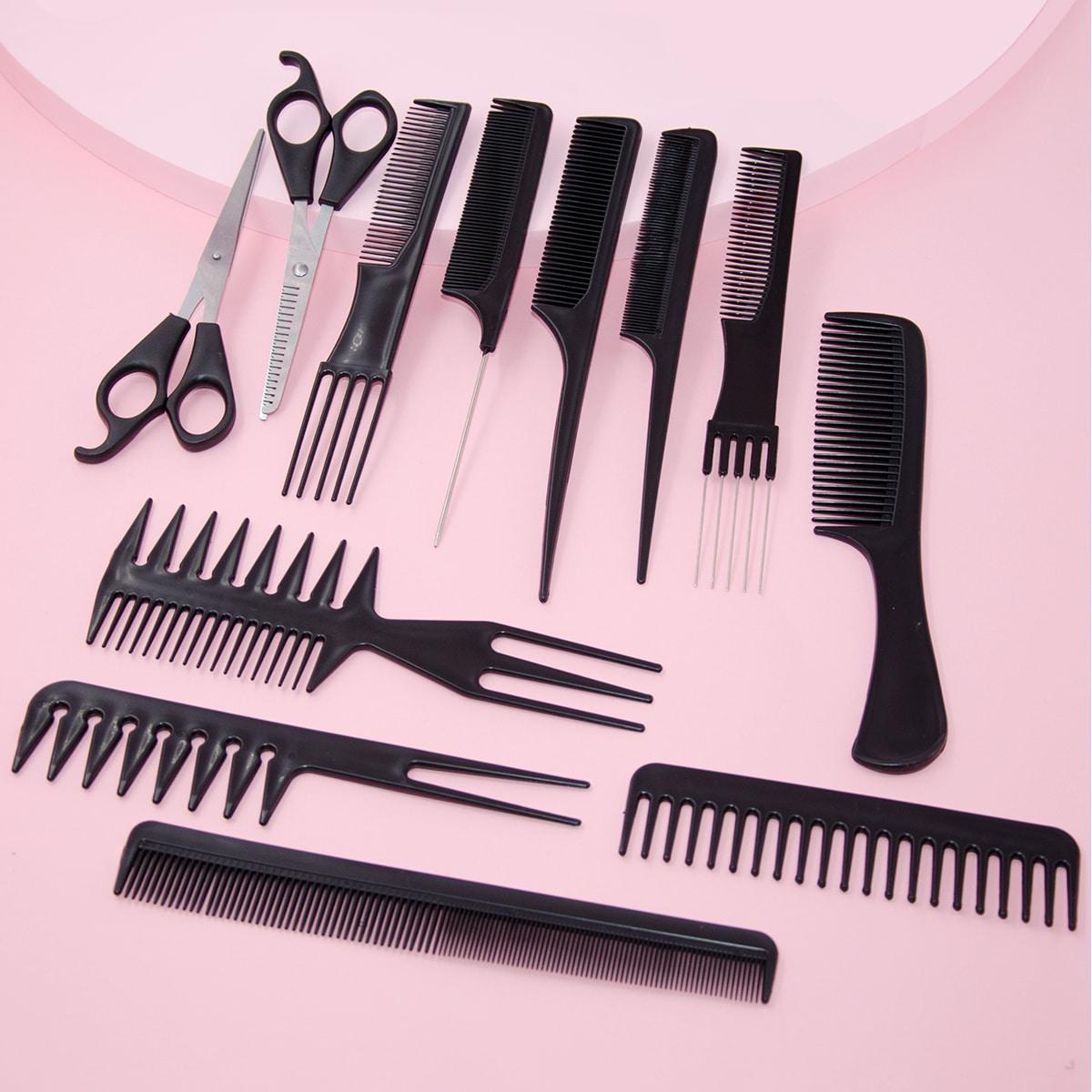 Расческа для парикмахерских ножниц 12шт