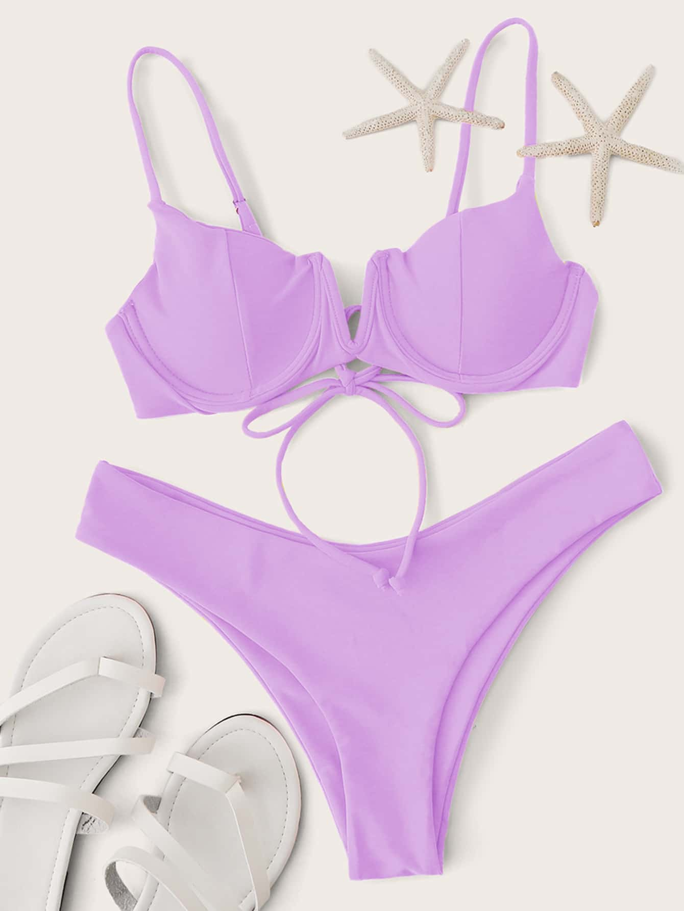 V Wired Underwire Bikini Swimsuit thumbnail