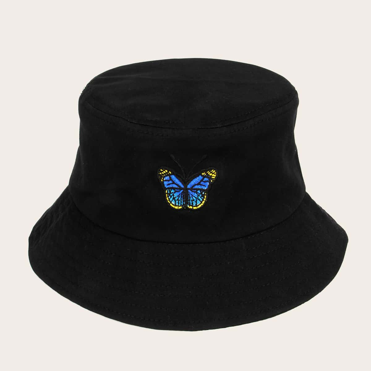 Шляпа с узором бабочки