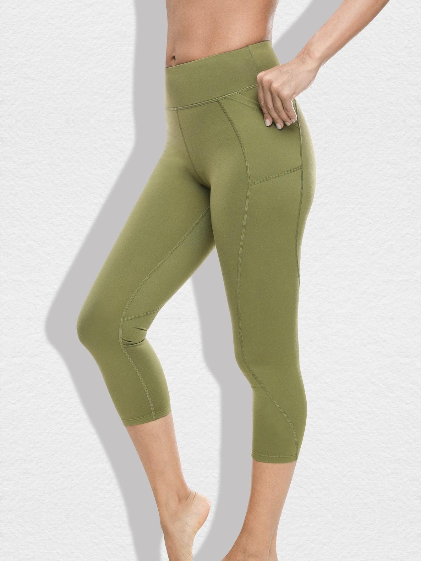 Pocket Side Topstitch Cropped Leggings thumbnail