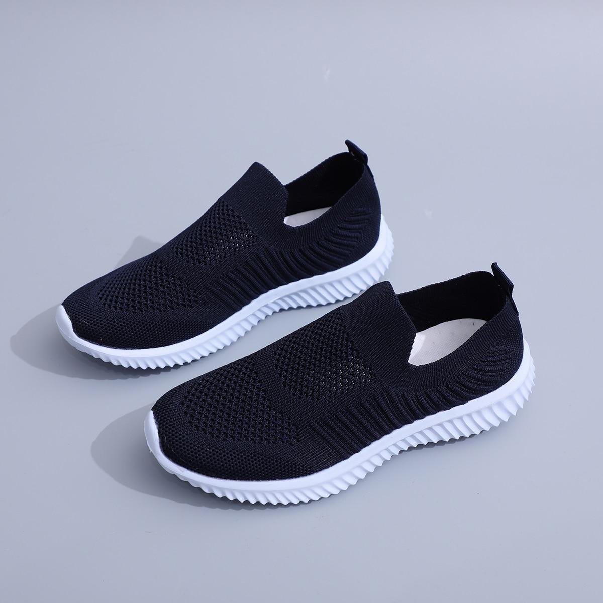 Трикотажные кроссовки без шнурки