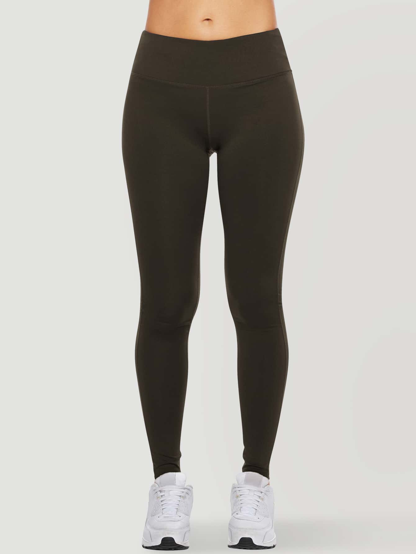 Wide Waistband Solid Leggings thumbnail