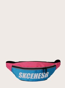 kids letter graphic fanny pack