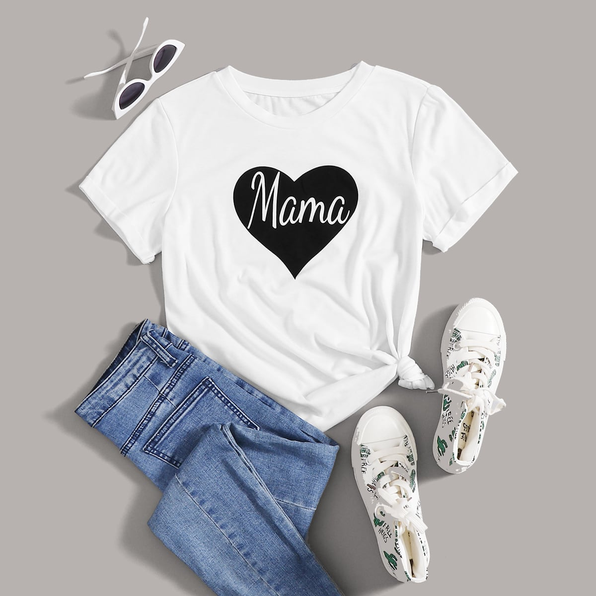 Heart & Letter Graphic Tee thumbnail