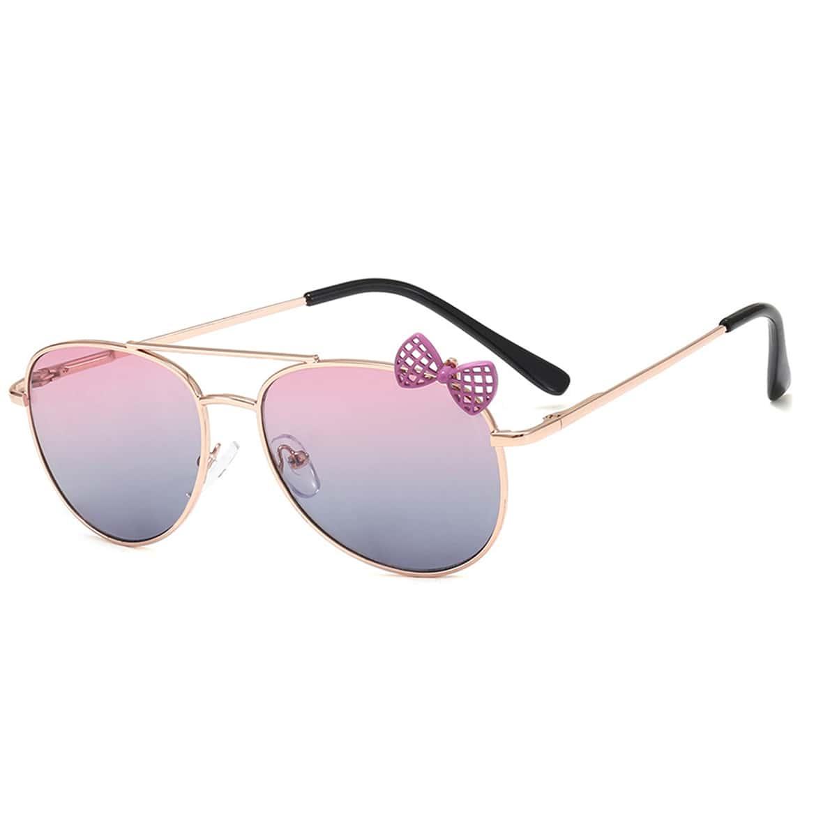 Солнечные очки с бантом для девочек