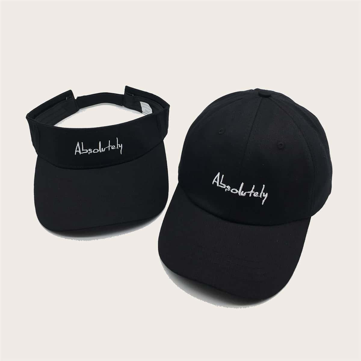 Шляпа козырька и бейсболка с вышивкой 2шт